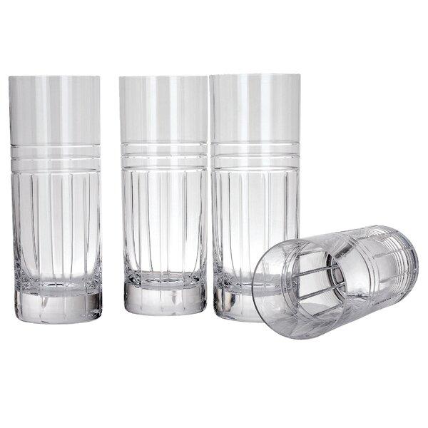 Tempo 16 oz. Crystal Highball Glass (Set of 4) by Reed & Barton