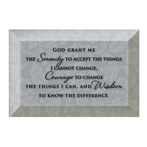 Simple Expressions Serenity Prayer Textual Art Plaque by Dexsa