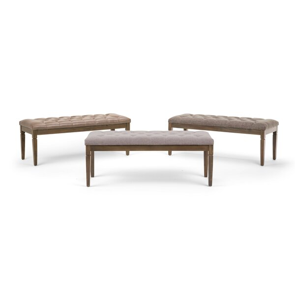 Hazelton Upholstered Bench by Charlton Home