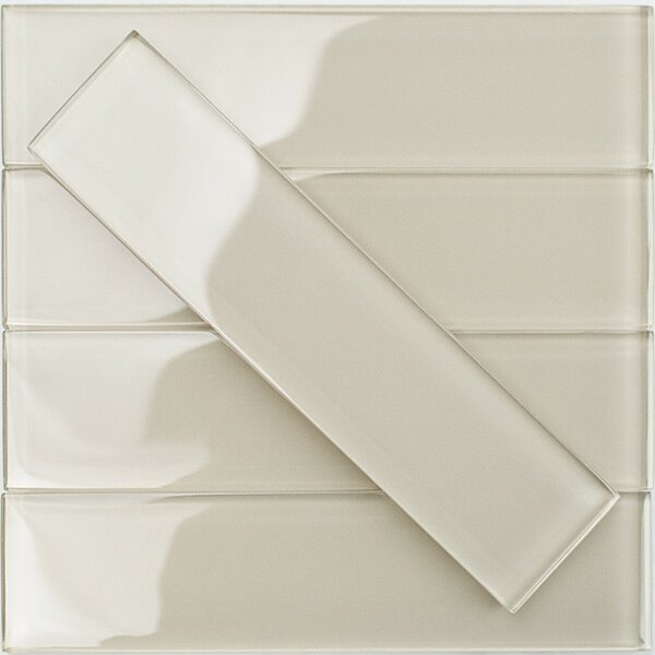Contempo 2 x 8 Glass Subway Tile in Sand Beach by Splashback Tile
