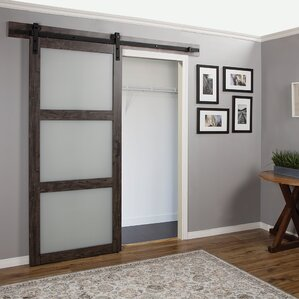 Interior Barn Door With Glass interior doors you'll love | wayfair
