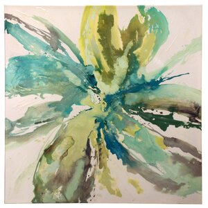 'Burst Bloom' Watercolor Painting Print on Canvas by Bay Isle Home