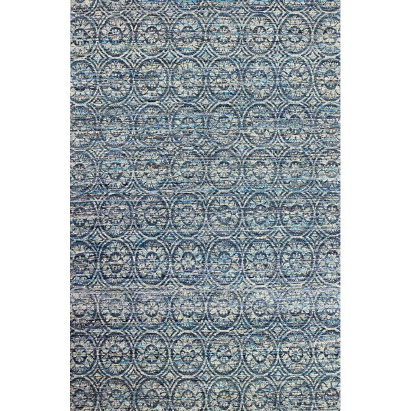 Amira Hand-Woven Blue Area Rug by Bungalow Rose
