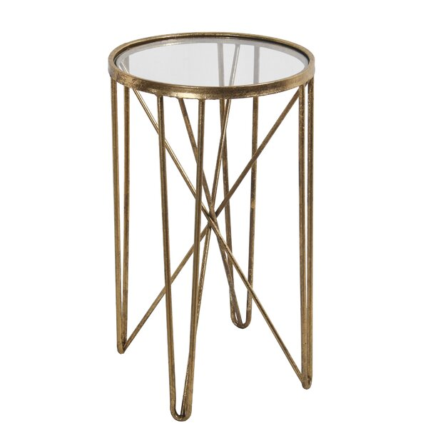Ayala Metal Round End Table by Mercer41