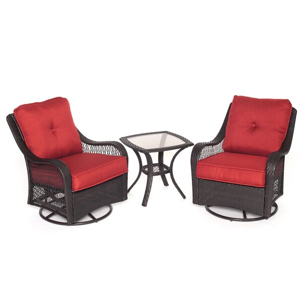 Innsbrook 3 Piece Conversation Set with Cushions by Alcott Hill