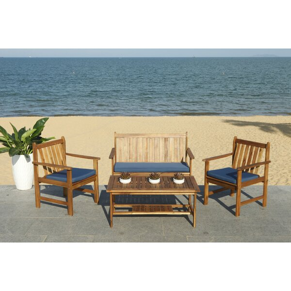 Joliet 4 Piece Loveseat Seating Group With Cushions By Lark Manor