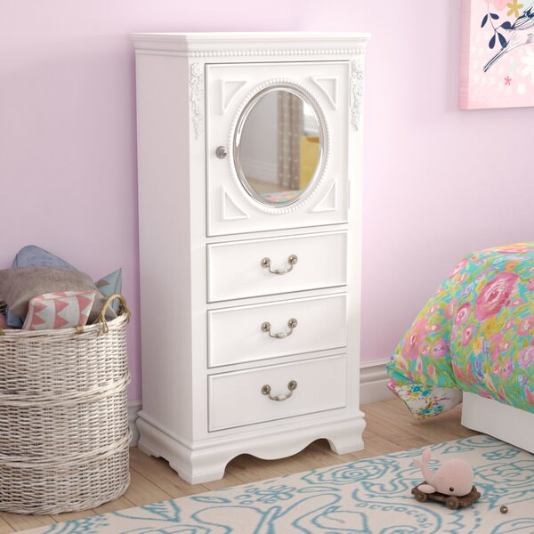 Weidler 3 Drawer Chest with Mirror by Viv + Rae