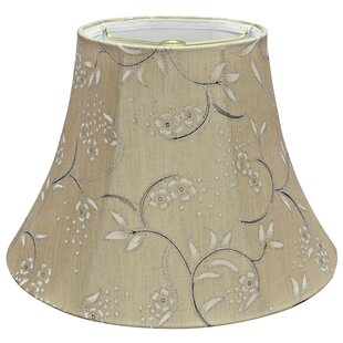 Floral lamp shades youll love wayfair traditional spider 13 linen bell lamp shade aloadofball Choice Image