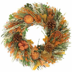 Tuscan Foliage Natural Elements Wreath