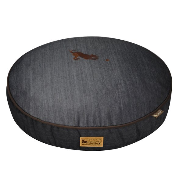 Signature Urban Denim Round Dog Pillow by P.L.A.Y.