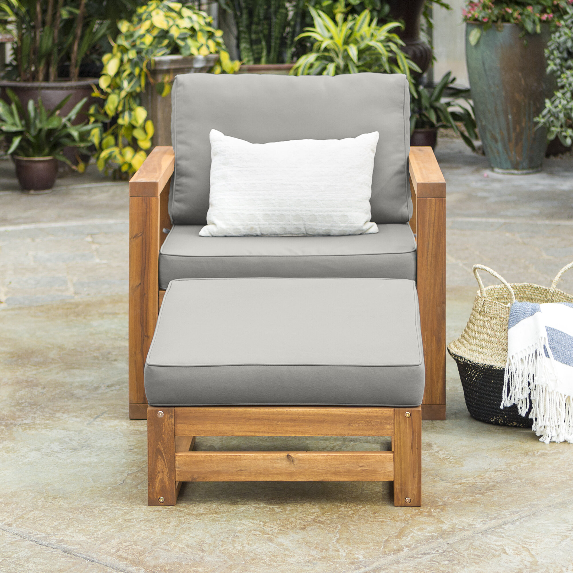 Lyall Patio Chair With Cushion And