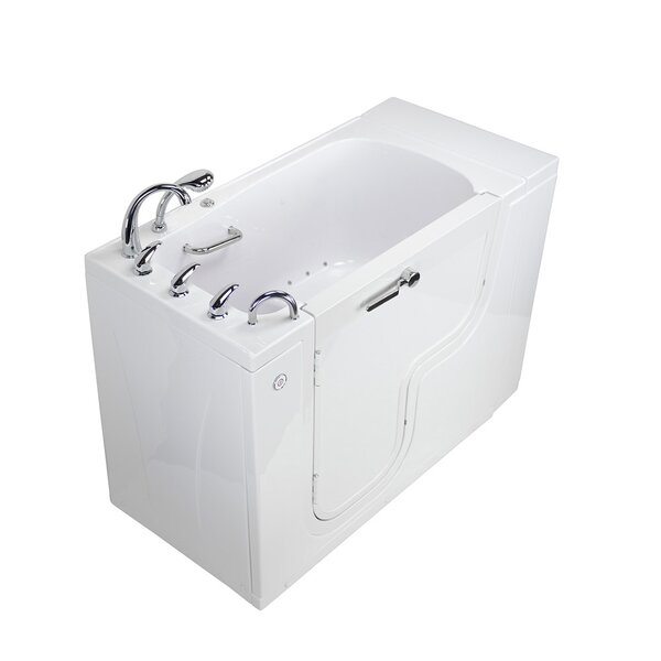 Transfer L Shape Wheelchair Accessible Air Massage Microbubble 52 x 30 Walk-in Combination Bathtub by Ella Walk In Baths