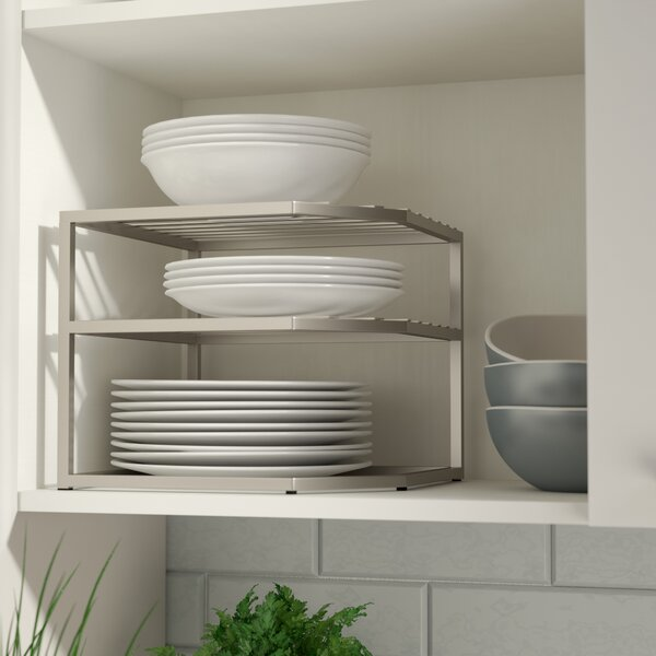 Prevatte Corner Kitchen Cabinet Organizer Rack by Rebrilliant