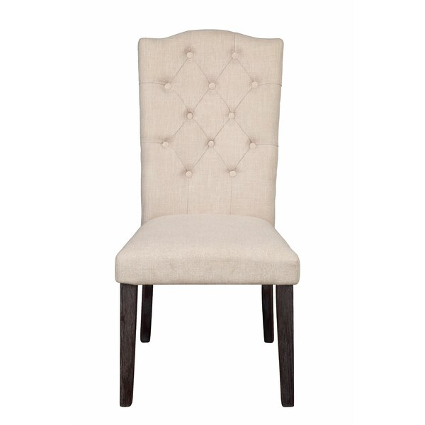 Gore Linen Upholstered Arm Chair in Beige by One Allium Way One Allium Way