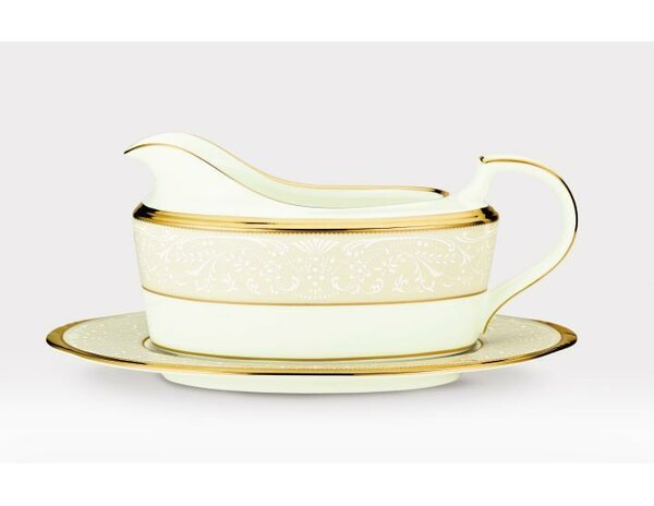 White Palace Gravy Dish with Tray by Noritake