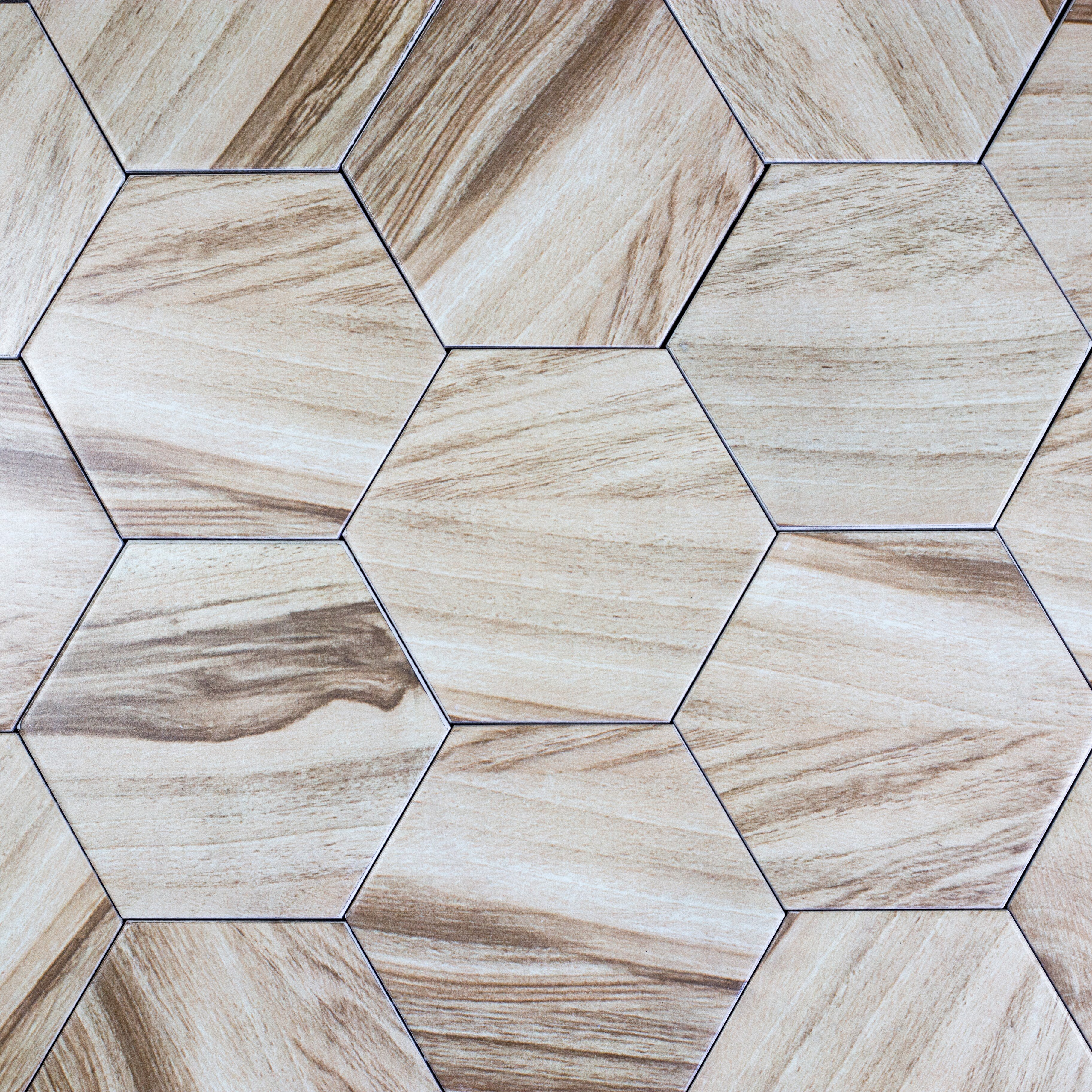 Abolos artisan wood hexagon 8 x 8 ceramic wood look tile in tan abolos artisan wood hexagon 8 x 8 ceramic wood look tile in tan reviews wayfair dailygadgetfo Choice Image