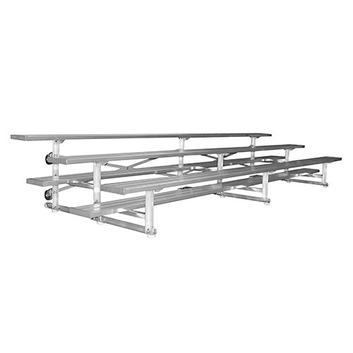 3 Row 7 5 Tip And Roll Bleacher By Jaypro Sports.