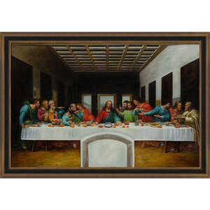 The Last Supper by Leonardo da Vinci Framed Painting Print by Tori Home