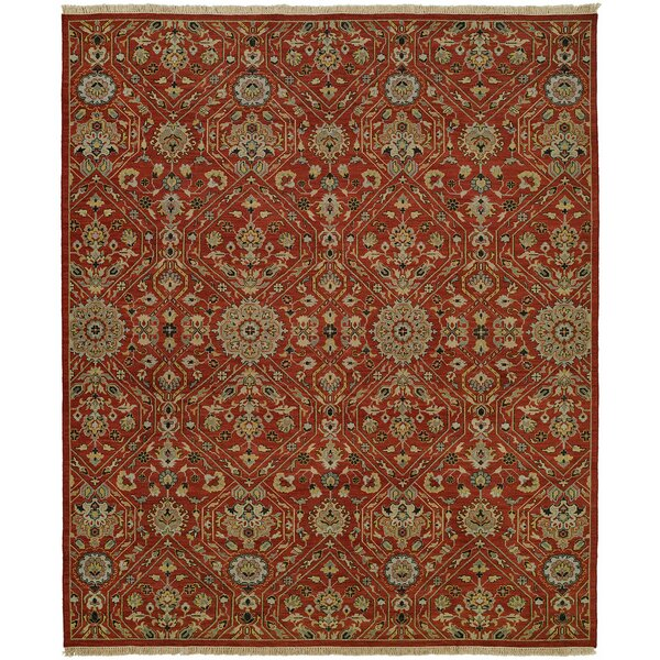 Mccall Wool Red Area Rug