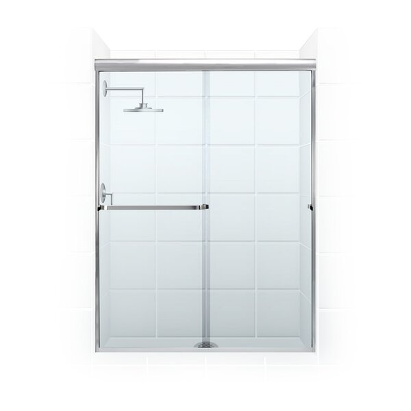 Paragon Series 60 x 65 Sliding Frameless Shower Door by Coastal Shower Doors