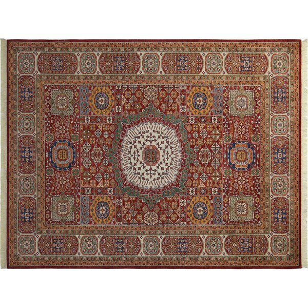 Baldwin Park Hand-Knotted Wool Red Area Rug by Bloomsbury Market
