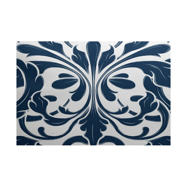 Rhymer Blue Indoor/Outdoor Area Rug by Charlton Home