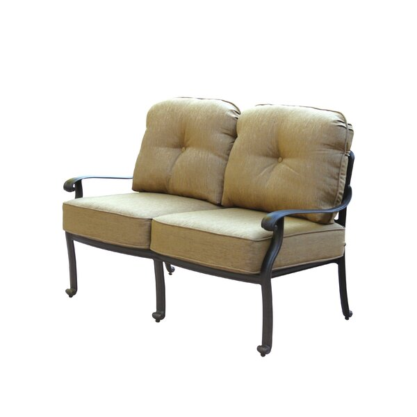 Lebanon Loveseat with Cushions by Three Posts