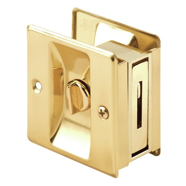 Privacy Lock Pocket Door Hardware with Pull by PrimeLine