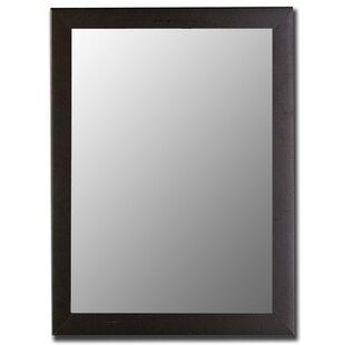 Hitchcock Butterfield Company Modern Satin Black Wall Mirror