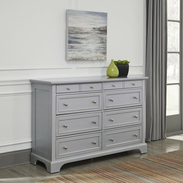 Roxane 8 Drawer Double Dresser with Mirror by Harriet Bee