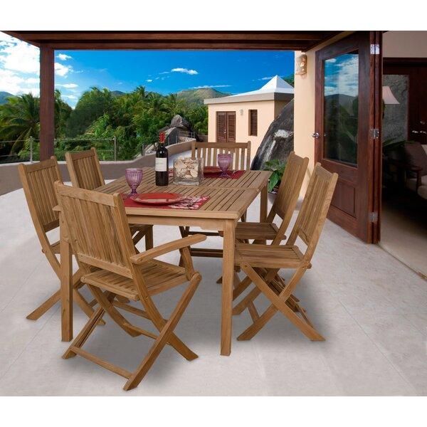 Kenzie International Home Outdoor 7 Piece Teak Dining Set by Rosecliff Heights
