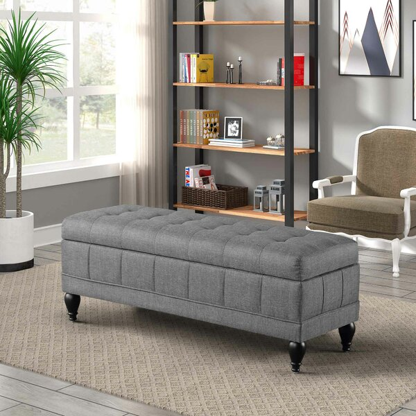 Qualana Wood Flip Top Storage Bench