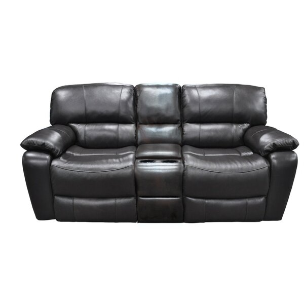 Malm Leather Reclining Sofa by Winston Porter