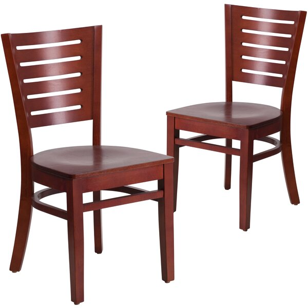 Lauren Slat Back Dining Chair (Set of 2) by Red Barrel Studio Red Barrel Studio
