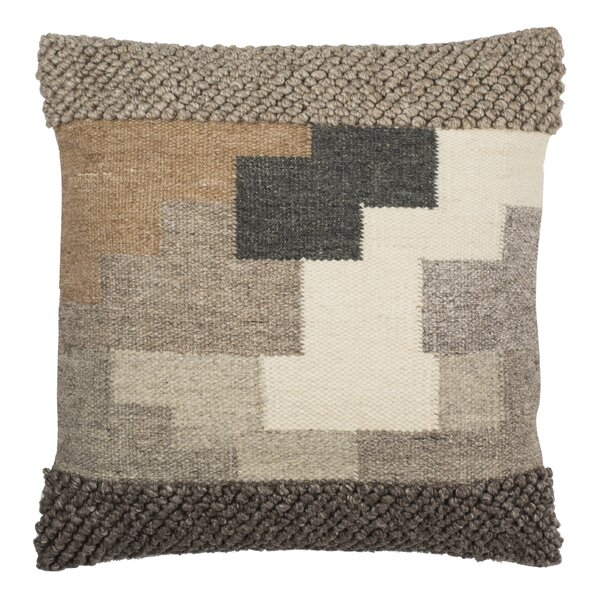 Baranof Wool Throw Pillow by Foundry Select
