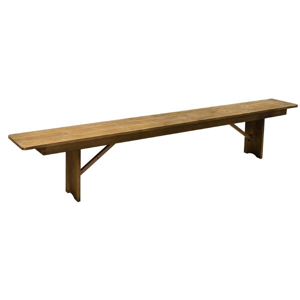 Ethan Wood Bench by Millwood Pines Millwood Pines