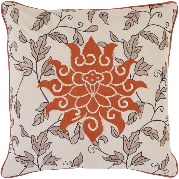 McCabe Sun and Leaves Cotton Throw Pillow by Alcott Hill