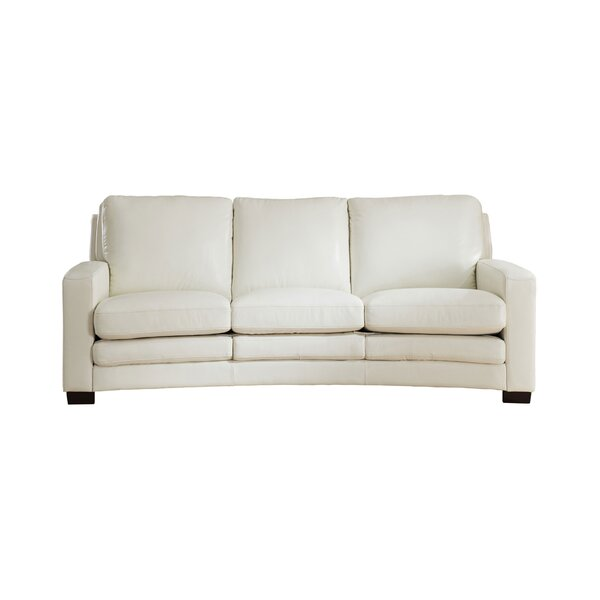 Modern Beautiful Theodora Leather Standard Sofa by Three Posts by Three Posts
