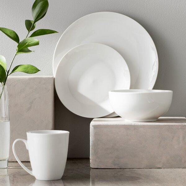 Woodruff 16 Piece Dinnerware Set, Service for 4 by Mint Pantry
