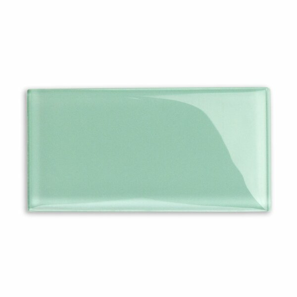 Contempo 3 x 6 Glass Subway Tile in Spa Green by Splashback Tile