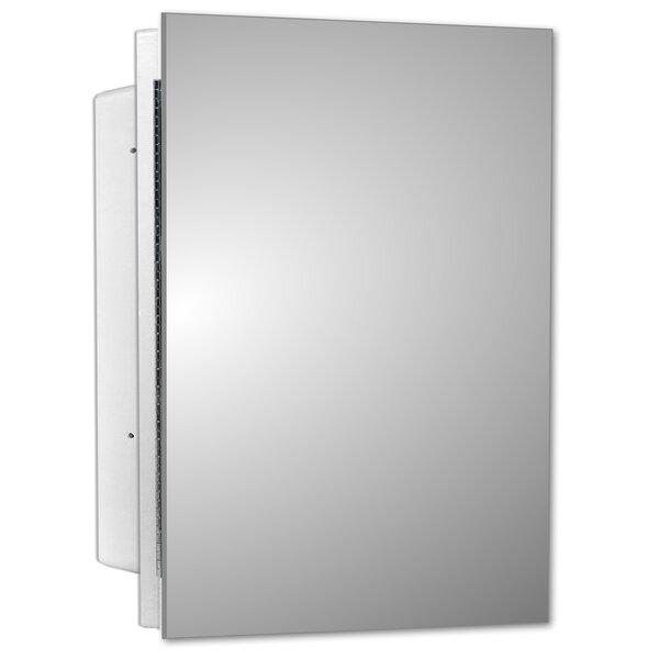 Adaja Recessed Single Door Frameless Medicine Cabinet with 2 Shelves