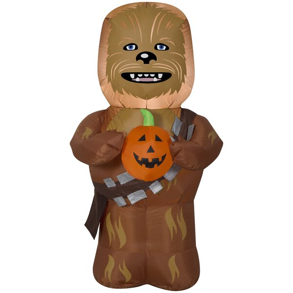 Halloween Chewbacca SM Star Wars Inflatable with Pumpkin by The Holiday Aisle