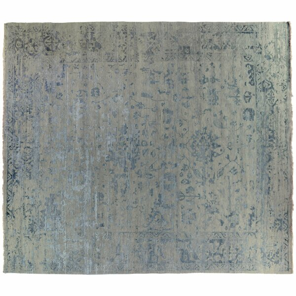 One-of-a-Kind Hand-Knotted Blue 12' x 14'9 Area Rug