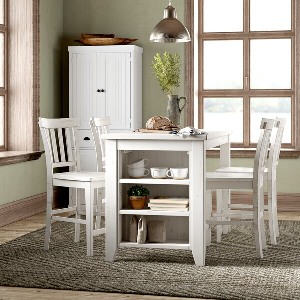 Frasier 5 Piece Counter Height Solid Wood Dining Set By Birch Lane™ Heritage