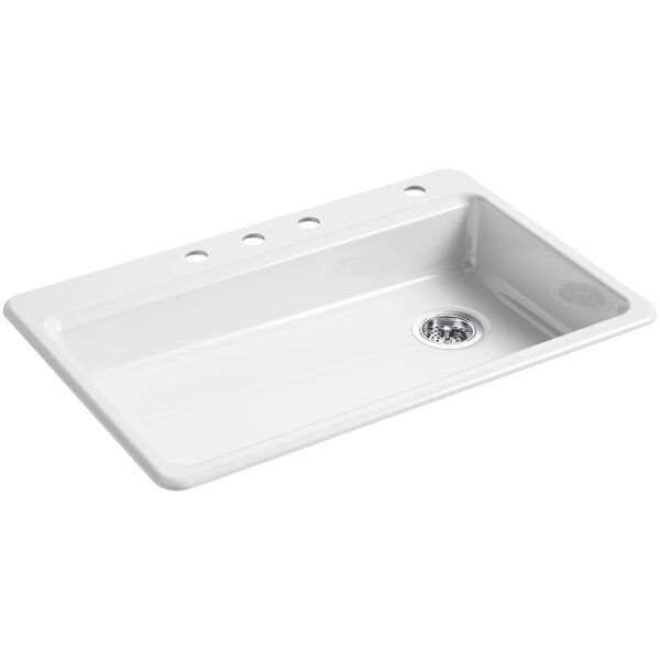 Riverby 33 L x 22 W Top Mount Single Bowl Kitchen Sink by Kohler