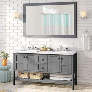 Price Check Bob 60 Double Bathroom Vanity Set ByWilla Arlo Interiors