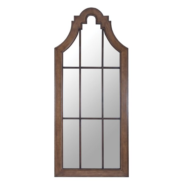 Kunrui Solid Mahogany Overscale Accent Wall Mirror by Gracie Oaks