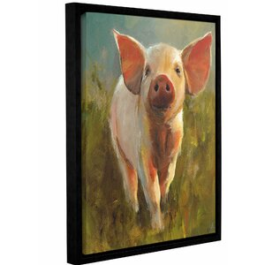 'Morning Pig' Framed Painting Print on Canvas by August Grove