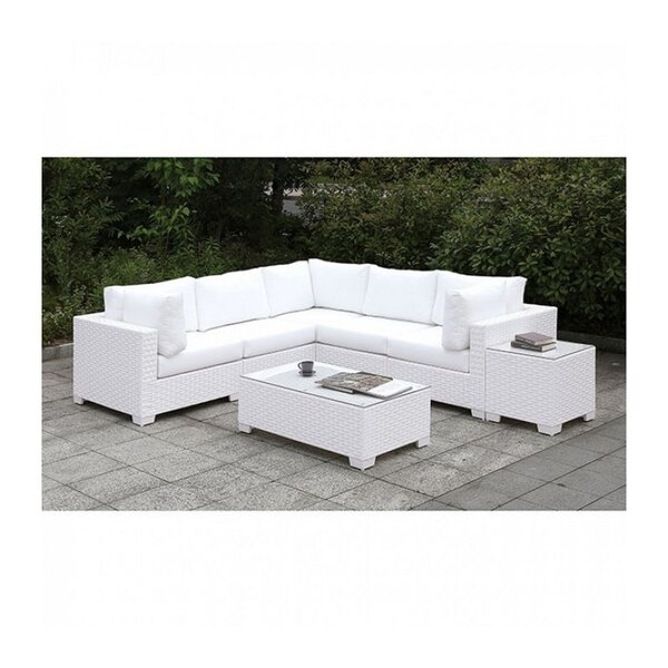 Strinko 3 Piece Sectional Seating Group with Cushions by Brayden Studio
