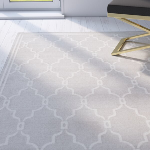 Wason Light Gray/Ivory Indoor/Outdoor Area Rug by Three Posts